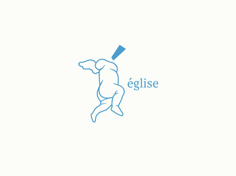 église - logo design