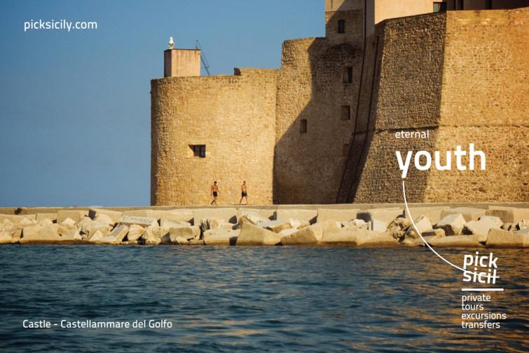 Progettazione del marchio e della comunicazione su stampa e web per Picksicily – Private Tours Excursions Transfers.